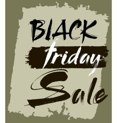 Hand lettering black friday sale vector