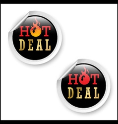 Hot deal stickers vector image vector image