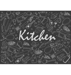 Kitchen chalk vector