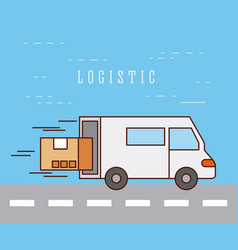 logistic delivery transport speed service vector image