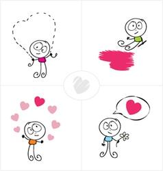 love boy vector image vector image