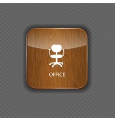 Office wood application icons vector