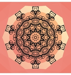Ornamental round mandala design round frame on vector
