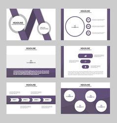 Purple presentation templates infographic elements vector