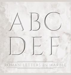 Roman letters vector