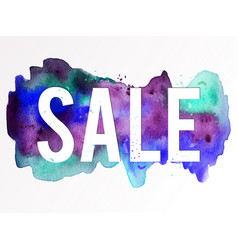 sale-violet-green-blue vector image