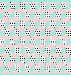 Seamless pattern of cubes vector
