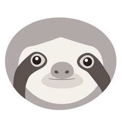 sloth flat ico vector image vector image