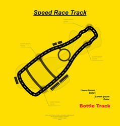 Speed bottle track vector
