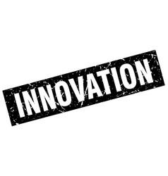 Square grunge black innovation stamp vector