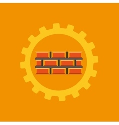 Tool box bricks construction icon design vector
