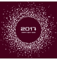 White brown new year 2017 circle frame background vector