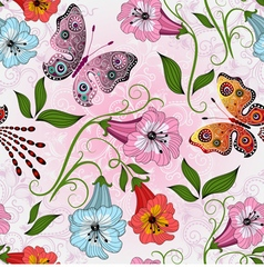 Seamless gentle floral pattern vector image