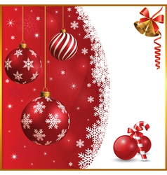 Christmas and snow background vector