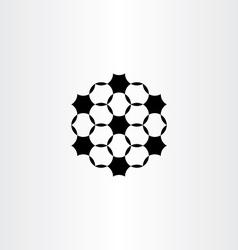Geometric circles black icon design element vector