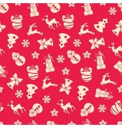 Stock seamless of winter and Christmas vector image