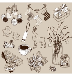 Christmas collection of design elements vector