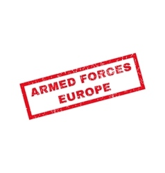 Armed forces europe rubber stamp vector