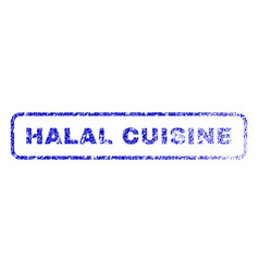 halal cuisine rubber stamp vector image