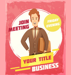 Business meeting poster vector