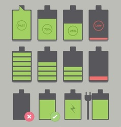 Battery sets vector