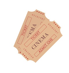 Two cinema ticket vector image