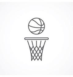 Basketball line icon vector image