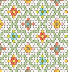 Hexagon tile pattern vector