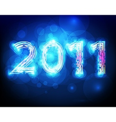 Futuristic 2011 background vector