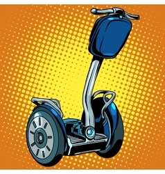 Abstract electric scooter with flashlight segway vector image