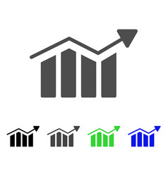 bar chart trend icon vector image vector image