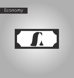 Black and white style icon currency vector