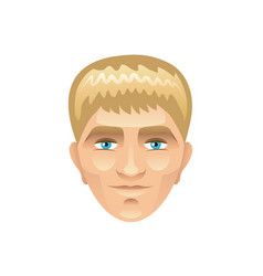 Blond man face isolated on white vector