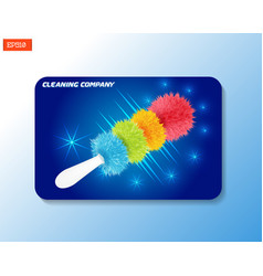 Business card mock-up for cleaning company with vector