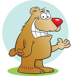 Cartoon happy bear vector