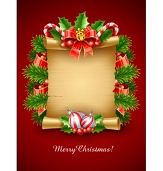 christmas holiday greetings vector image vector image