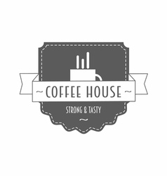 Coffee house - strong and tasty - logo vector image vector image