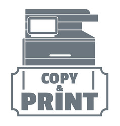 Copy and print logo simple style vector