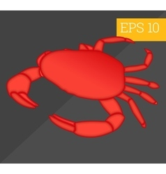 crab isometric vector image vector image