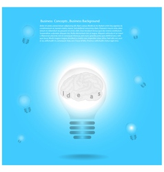 Creative Template with lamp bulb symbols vector image