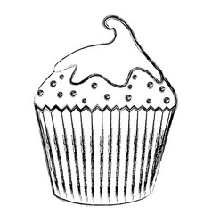 delicious cupcake isolated icon vector image