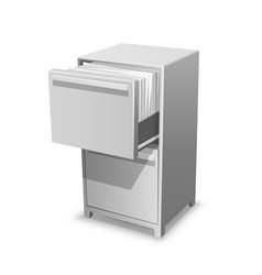 Documents open office box closet safe with vector