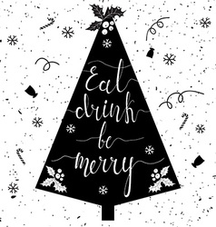 Eat drink be merry tree vector image vector image
