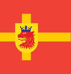 Flag of scania is the southernmost province of vector