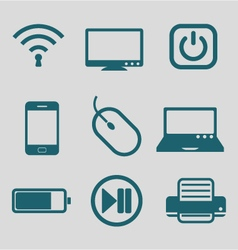 flat icon for technology tool vector image