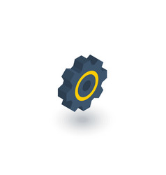gear mechanism isometric flat icon 3d vector image vector image
