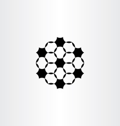 Geometric circles black icon design element vector