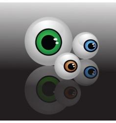 glass eyeballs vector image vector image