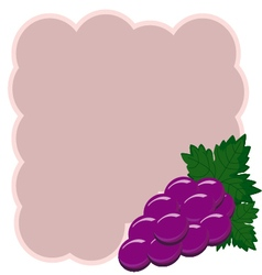 Grapes background decorative grapes border vector