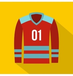 Hockey t-shirt icon flat style vector